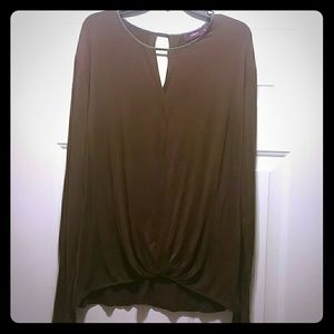 Doublju Tops - Comfortable long sleeve top