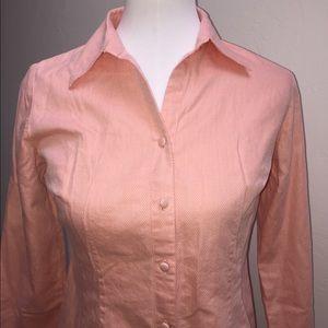 LOFT Ann Taylor Pink Petite Button Down Shirt
