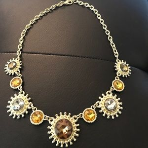 Glitter & gold bling necklace
