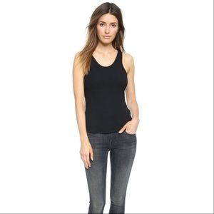 LNA Tops - LNA Black Ribbed Tank Top Wifebeater Boybeater Tee