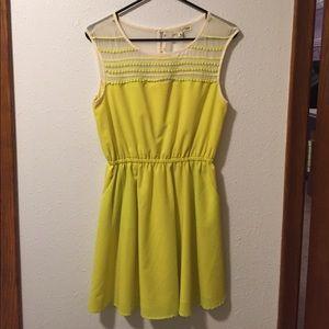 Aniina Dresses & Skirts - Yellow Sheer top dress