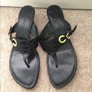 Madeline Stuart Shoes - Black heeled sandals