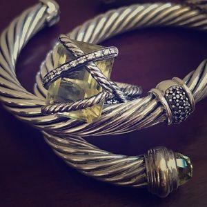 David Yurman Jewelry - David Yurman Lemon Citrine Diamond Wrap Ring