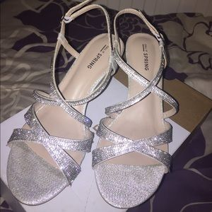 Call It Spring Shoes - Call It Spring Sparkly Silver Prom Shoes