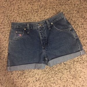 Wrangler Pants - high waisted vintage jean shorts