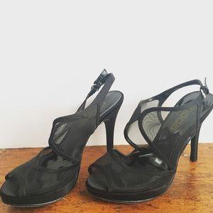 Moda International Shoes - Black Mesh Heels