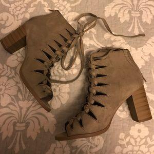 Soda Shoes - Soda Lace up Heels