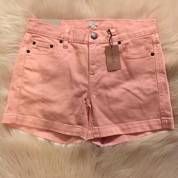 J. Crew Factory Pants - J. Crew City Fit Peach Denim Shorts. Size 00 NWT