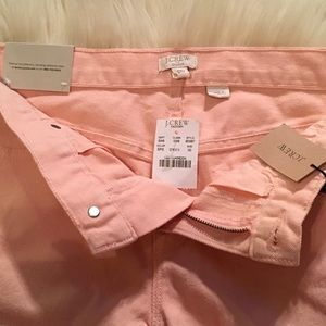 J. Crew Factory Shorts - J. Crew City Fit Peach Denim Shorts. Size 00 NWT