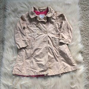 Toddler girl trench coat