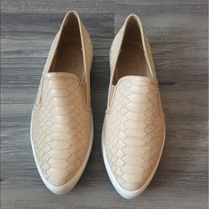 Shoes - Beige Snake Skin Sneakers|Never Worn