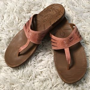 Chaco Shoes - Chaco Peach Sansa Leather Sandals