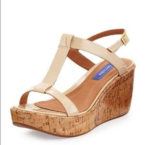 Dee Keller 'Erica' Patent Leather Wedge Sandal