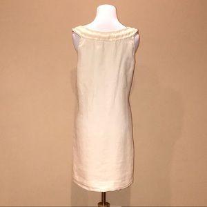 149c0411fb 120 % Lino Dresses - 120 Lino cream linen shift dress beaded neckline