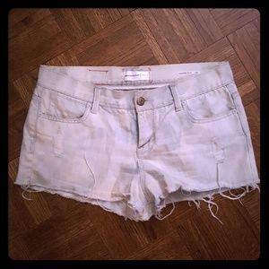 paper denim & cloth ripped jean shorts