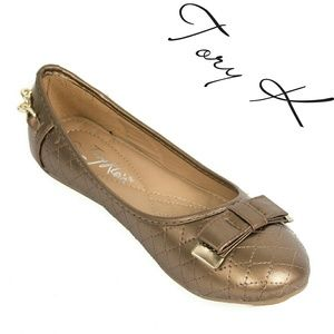 Women Ballet Flats with Bow, b-1623, Antique