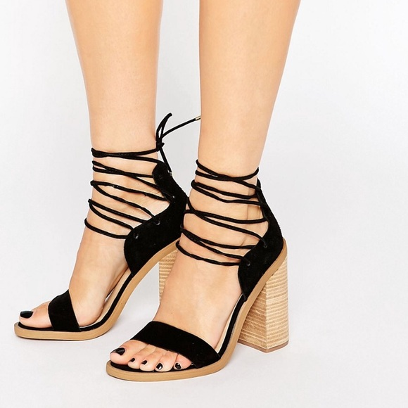 fbb873bc850 ASOS Shoes - ASOS new look strapped sandals wood block heels 7