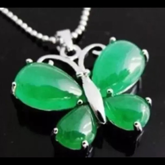 70 off jade jewelry real butterfly pendant with chain class c real jade butterfly pendant with chain class c aloadofball Gallery