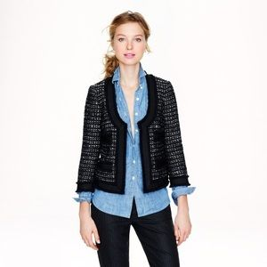 🆕 J.Crew Collection Black Tweed Jacket