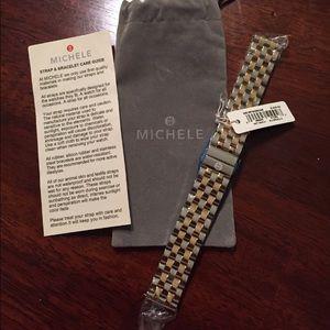 Michele Accessories - Michele two tone universal 18mm bracelet