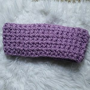 Hand crocheted lilac ear warmer