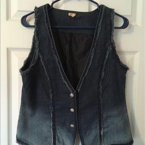 Reba Jackets & Blazers - Reba Blue Jean vest. Barely worn.