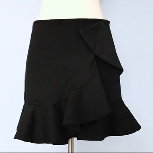 Zara Dresses & Skirts - Zara Woman Black Structured Ruffle Trumpet Skirt
