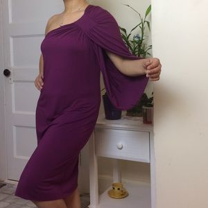 Rachel Dresses & Skirts - One shoulder Purple Dress