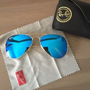 Ray-Ban Accessories - 🕶Authentic RayBan Blue Mirror Aviators