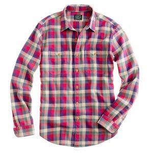 J. Crew Other - J Crew Men's sporting goods Flannel Button Shirt L