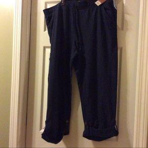 NEW cotton capri pants, navy blue