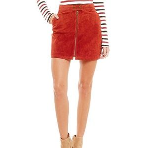 Sanctuary Real Leather Suede Skirt