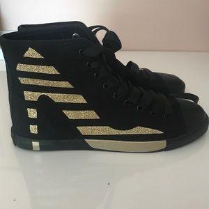 Be & D Shoes - Maison Dumain by Be&D sneakers Black Gold Pump 10