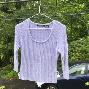 Tomfoolery Sweaters - Tomfoolery Juniors Purple Ribbed Stretch Sweater L