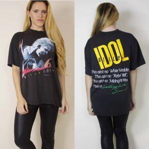 Vtg 80's 1986 BILLY IDOL Tour Tee T-shirt  Large