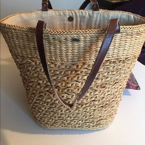 Scala Handbags - Awesome straw Tote