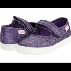 Cienta Other - Cienta Kid's Shoes Purple Metallic- worn once!