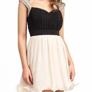 Little Mistress Dresses & Skirts - Jeweled shoulder evening dress