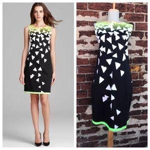 Elie Tahari 10 Printed Ginny Shift Sheath Dress