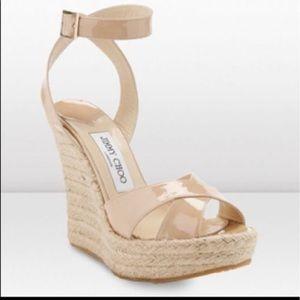 Jimmy Choo Shoes - Like 8.5-9 Jimmy Choo Phoenix pat nude