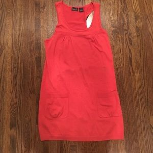 kersh Dresses & Skirts - Orange Jumper Dress with pockets