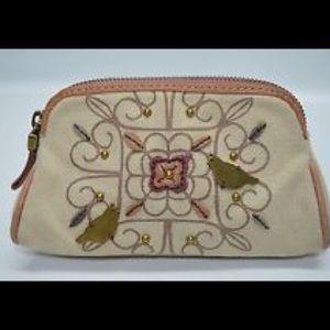 Fossil Handbags - Fossil Rare Bird Small Zip Cosmetic Bag Case Purse