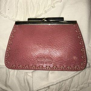 Fossil Handbags - RARE fossil cardholder / coin purse