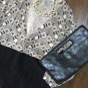 NWOT H&M White and Black Cardigan Aztec Pattern M