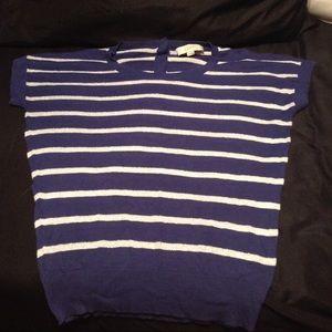 LOFT Sweaters - Ann Taylor LOFT M Short Sleeve Striped Sweater