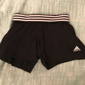 adidas Pants - adidas sport shorts with striped  waistband