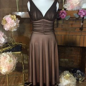 JS Boutique Dresses & Skirts - JS Boutique brown and mauve cocktail dress