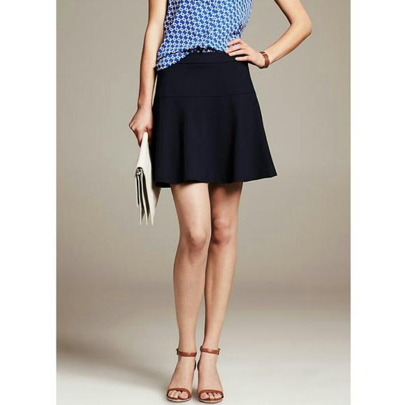 8d61d1c8c06 Banana Republic Dresses   Skirts - Banana Republic navy ponte fit   flare  skirt