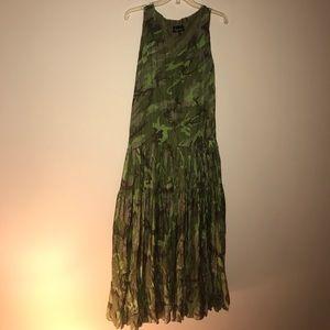 Camo Dresses & Skirts - Lynn Richie brand new (no tags) silk camo dress M