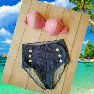 Other - 🌞Sale!🌞Retro Vintage Style High Waisted Bikini